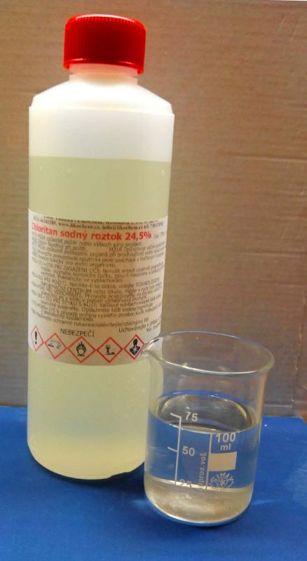 kosmetika, chemikálie Chloritan sodný 24,5%, 500 g